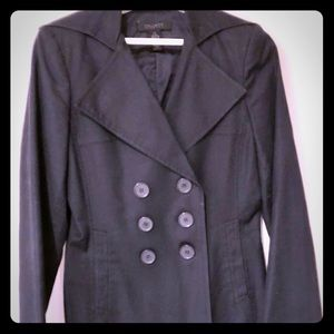 Navy blue cotton pea coat